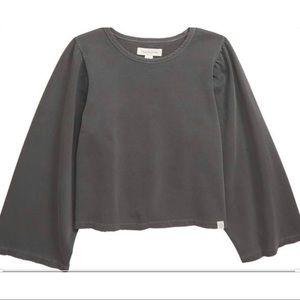 Treasure & Bond Washed Flare Sleeve Sweatshirt